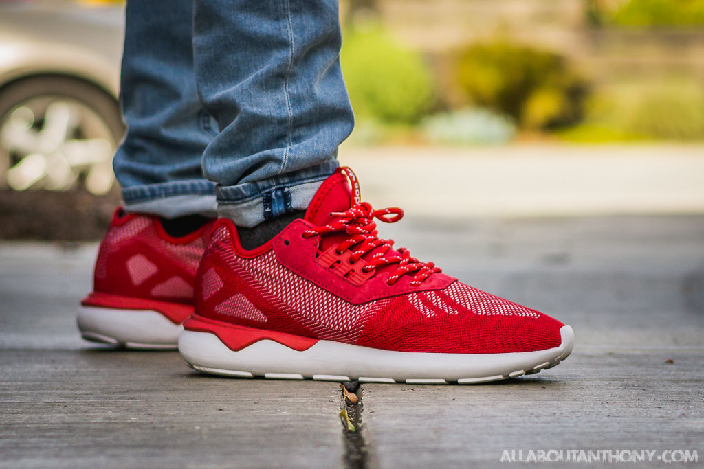 Adidas Tubular Runner Weave Scarlet Red