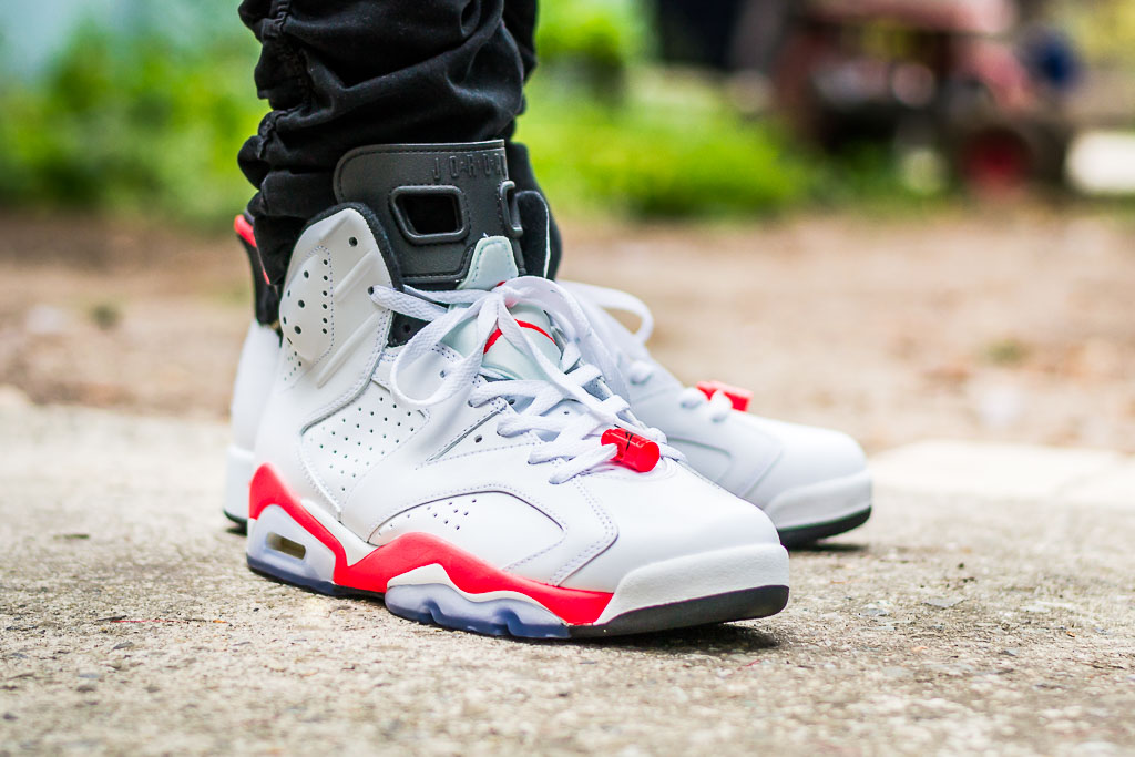 7f6ce2f2629 Air Jordan VI White Infrared On Foot Sneaker Review