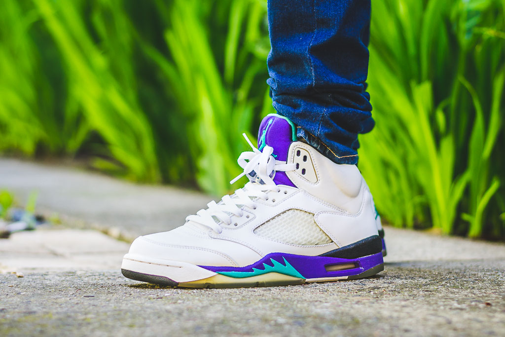 huge selection of 4b7cd 20e74 Air Jordan V Grape (2006) On Feet Sneaker Review - WDYWT