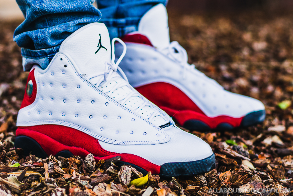 the best attitude b71ef 85fe4 Air Jordan 13 White Red On Feet Sneaker Review