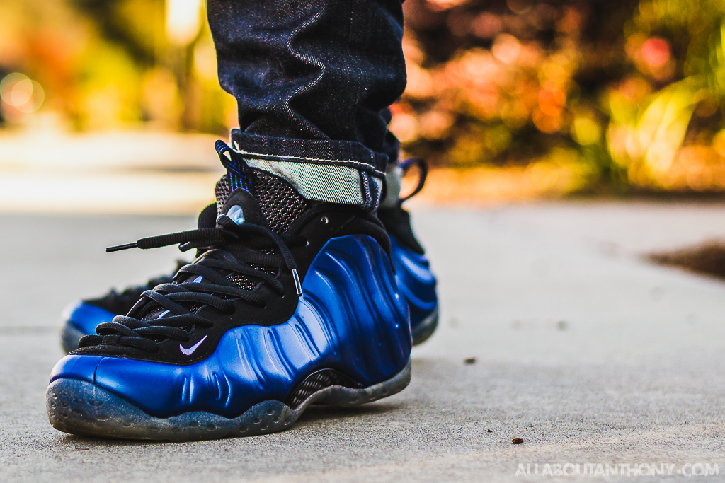 3be4981bf30ce Nike Air Foamposite One Royal On Feet Sneaker Review