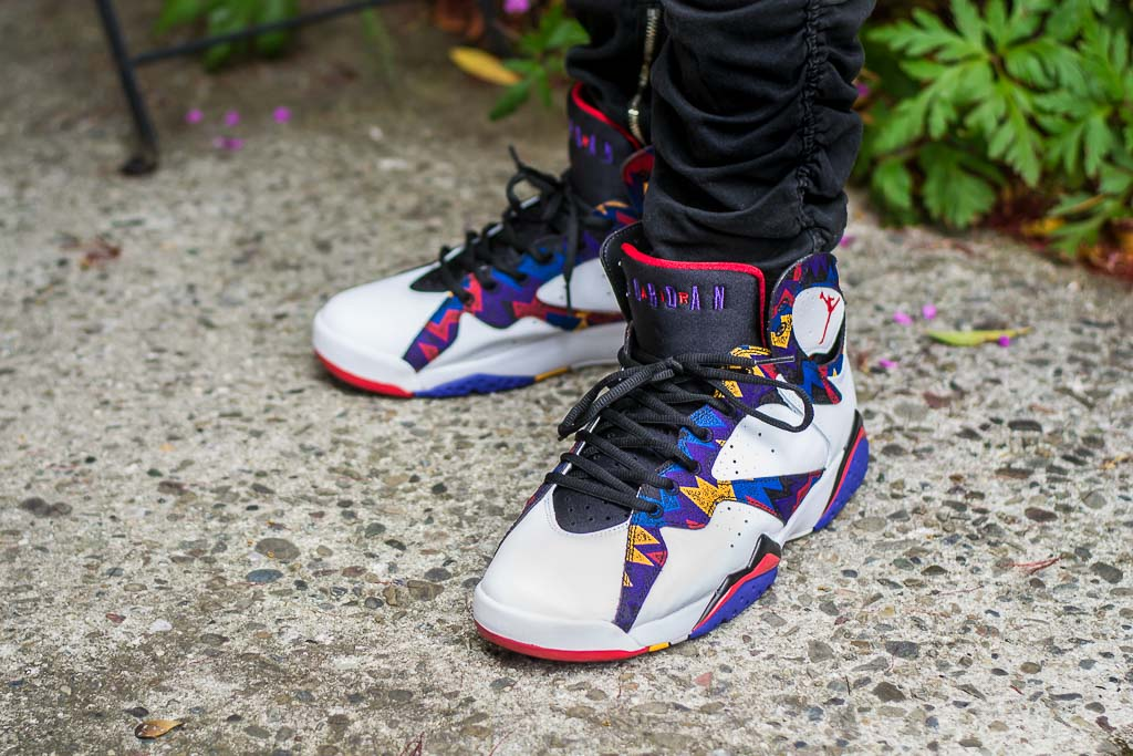 san francisco 3efa8 de70c Air Jordan 7 Sweater On Feet alt