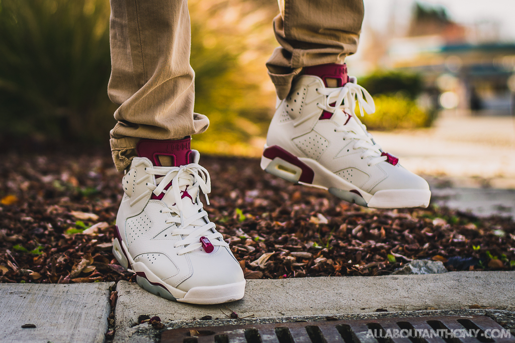 bd7f8f4f0cdd Air Jordan 6 Maroon On Feet Sneaker Review