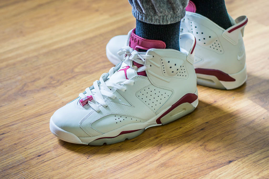 uk availability 7ceee 72b4f Air Jordan 6 Maroon On Feet Sneaker Review
