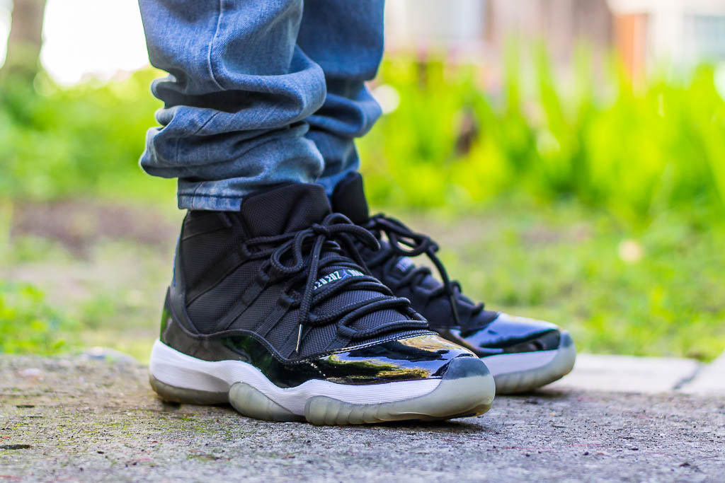 3bd4528128fe Air Jordan 11 Space Jam On Feet Sneaker Review