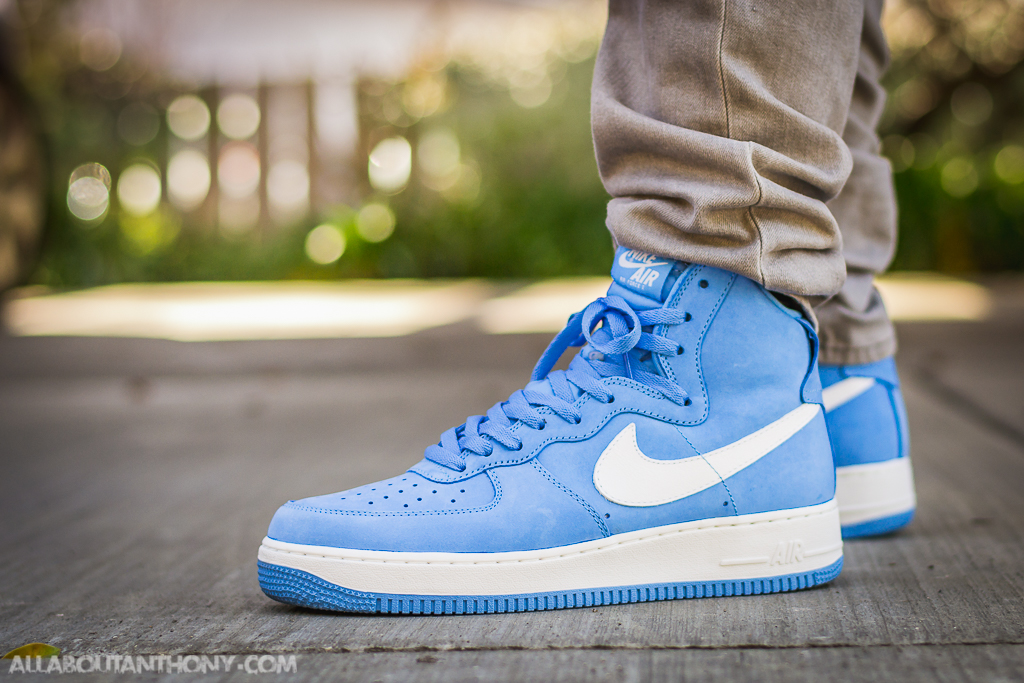 cheaper 0fece c70a5 Air Force 1 High University Blue On Feet Sneaker Review