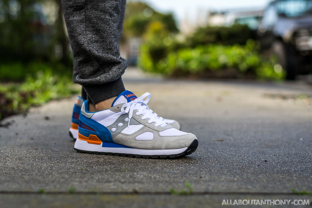 new product 7cd87 609d7 Saucony Shadow Original White & Blue On Feet Sneaker Review