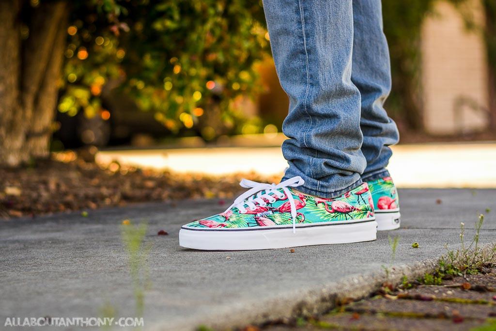 cef9385695 Vans Authentic Flamingo On Feet Sneaker Review