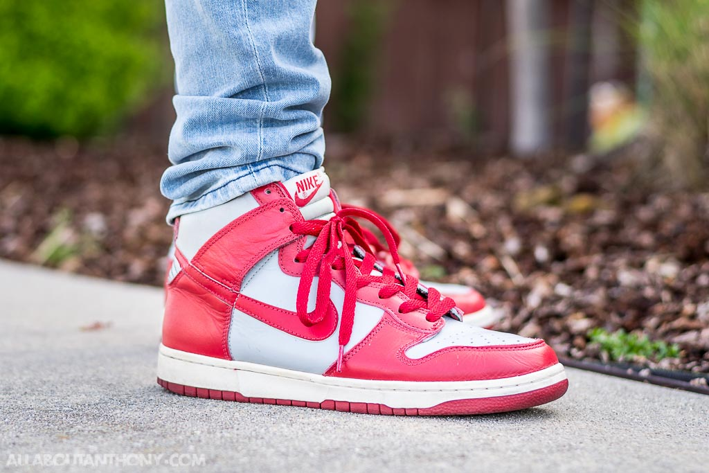 wholesale dealer 84b0a 692f0 1999 Nike Dunk High LE UNLV on feet