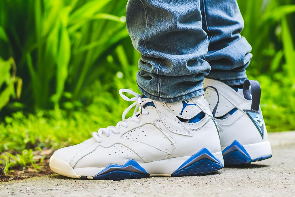 2f16008e59f313 2002 Air Jordan VII French Blue On Feet Sneaker Review