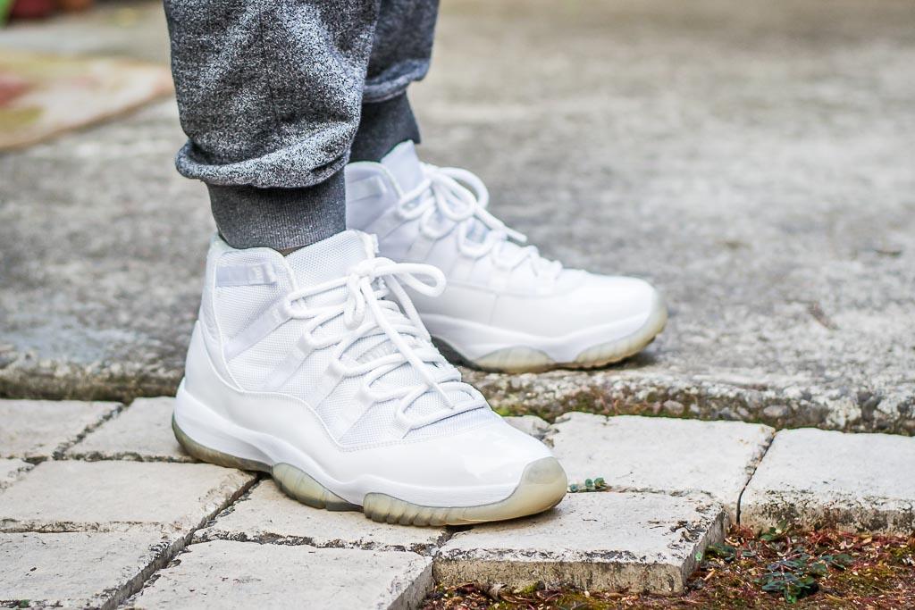 Air Jordan Xi Silver Anniversary On Feet Sneaker Review