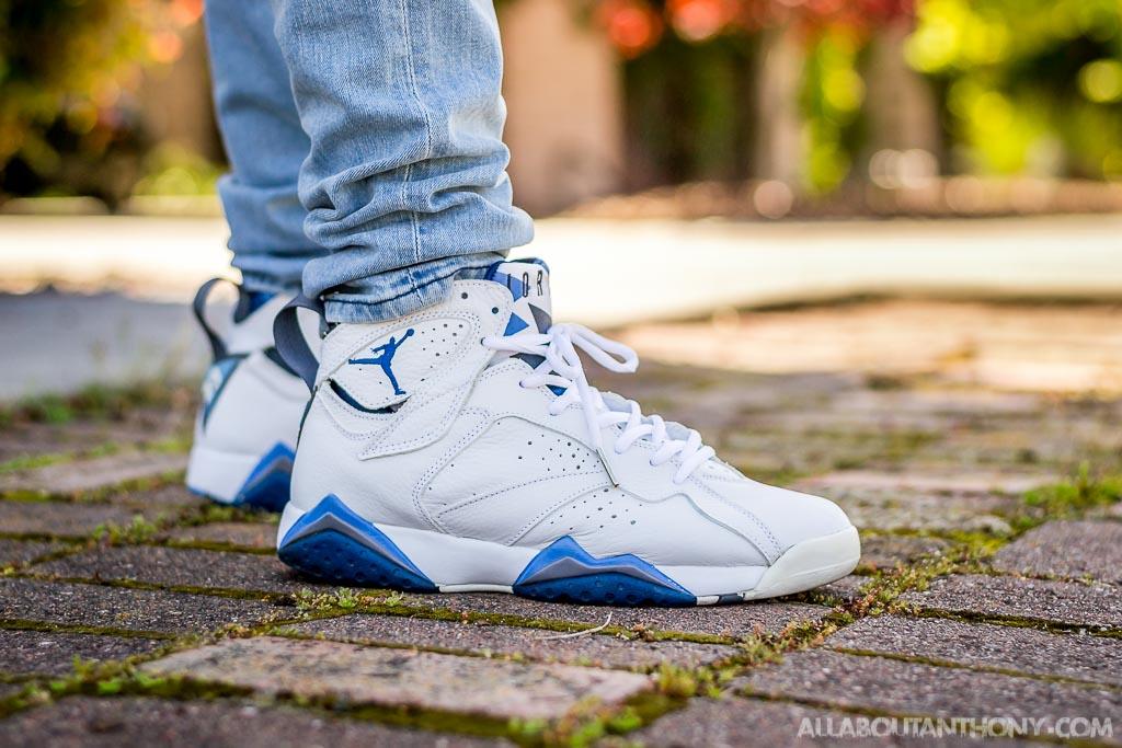 3ba1e58f91bd 2002 original 58a02 c4d72  coupon code for 2002 air jordan vii french blue  on feet sneaker review c666c 1d46b