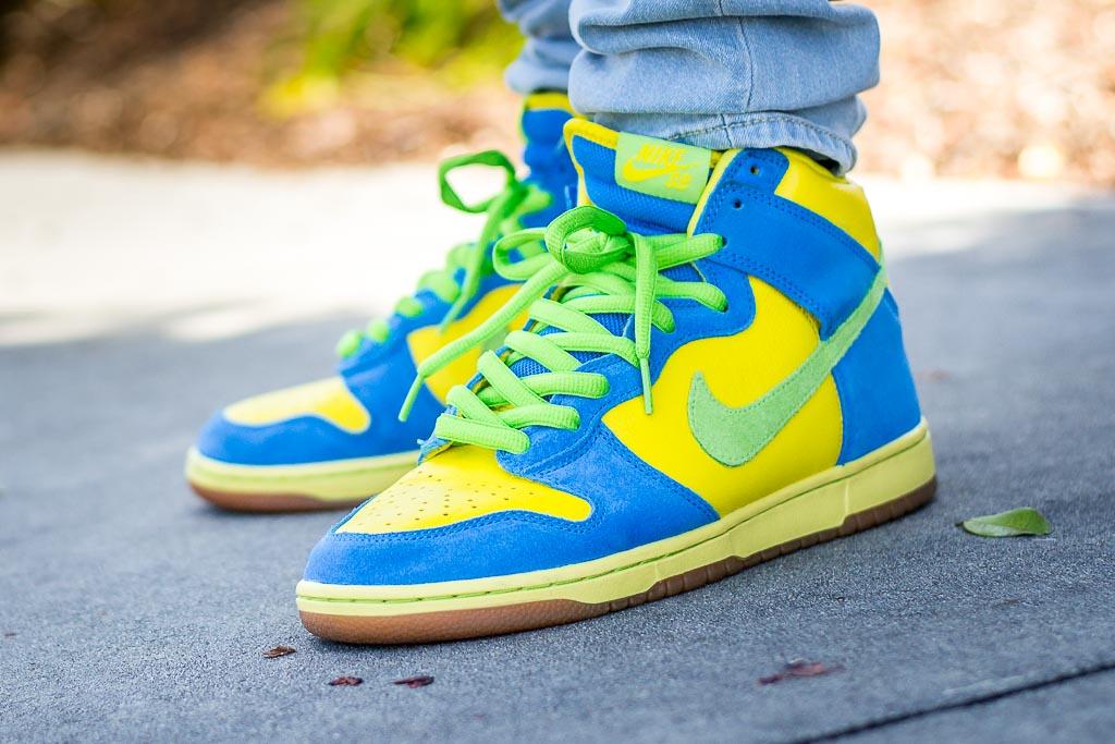 Nike SB Dunk High Marge Simpson On Feet
