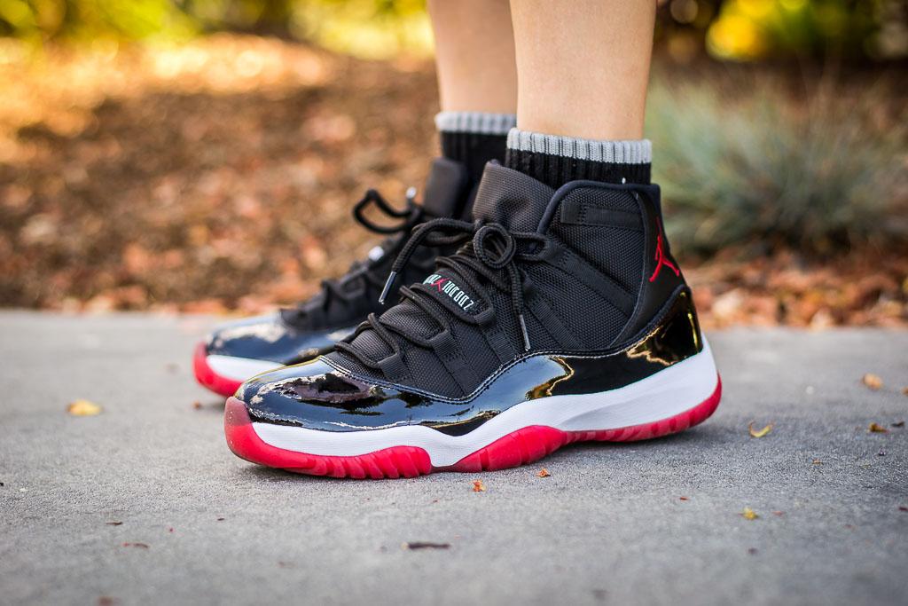2012 Retro Air Jordan XI Bred On Feet Sneaker Review Jordan 11 Bred On Feet