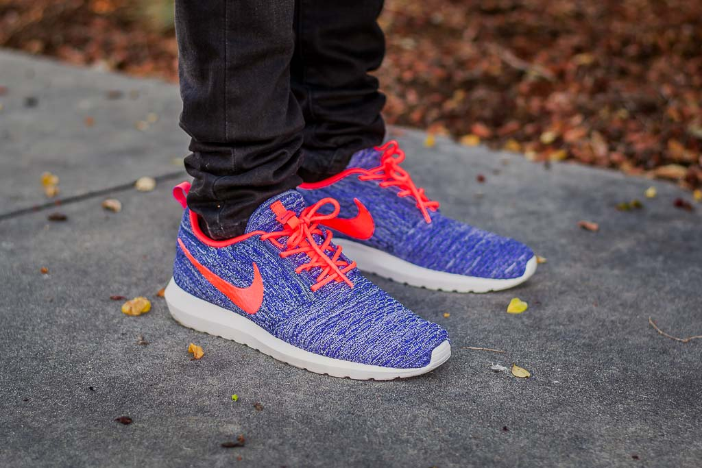 premium selection 79364 67949 Nike Flyknit Roshe Persian Violet On Feet on foot photo
