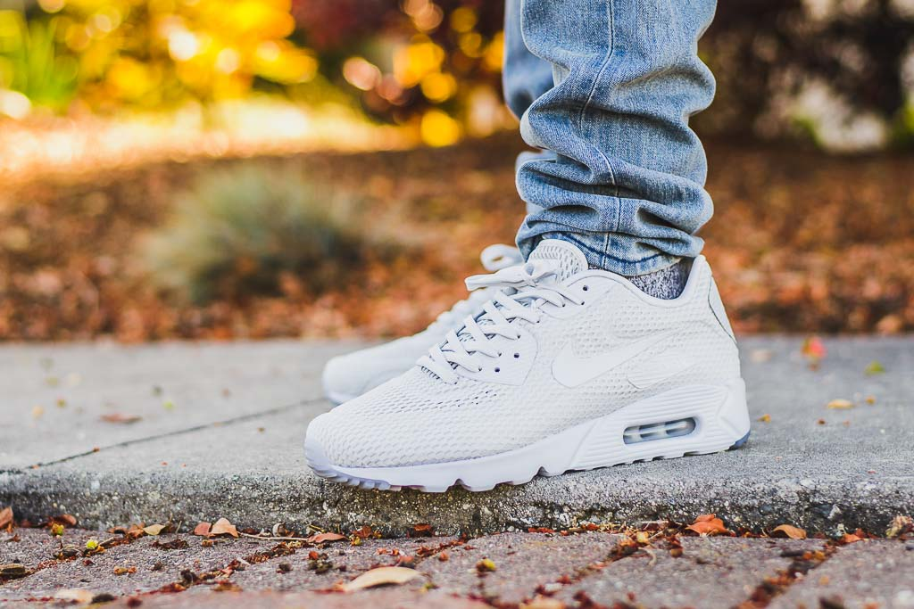 Nike Air Max 90 Ultra BR Pure Platinum On Feet Sneaker Review