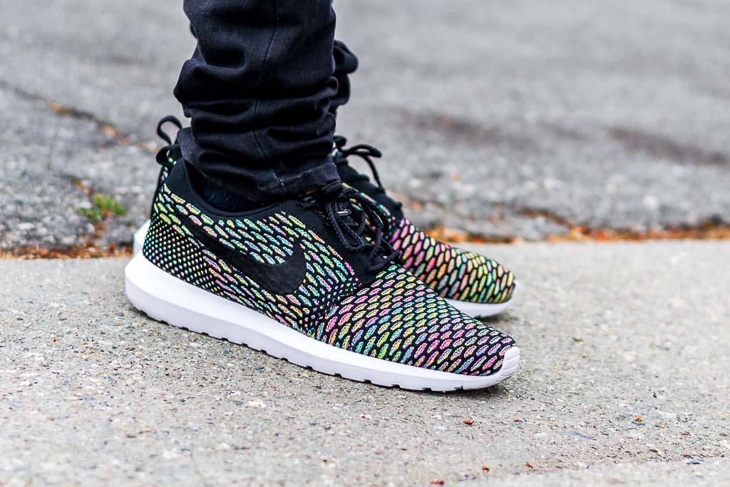 check out ed0fb d93a2 Nike Roshe NM Flyknit Multicolor On Feet on foot photo
