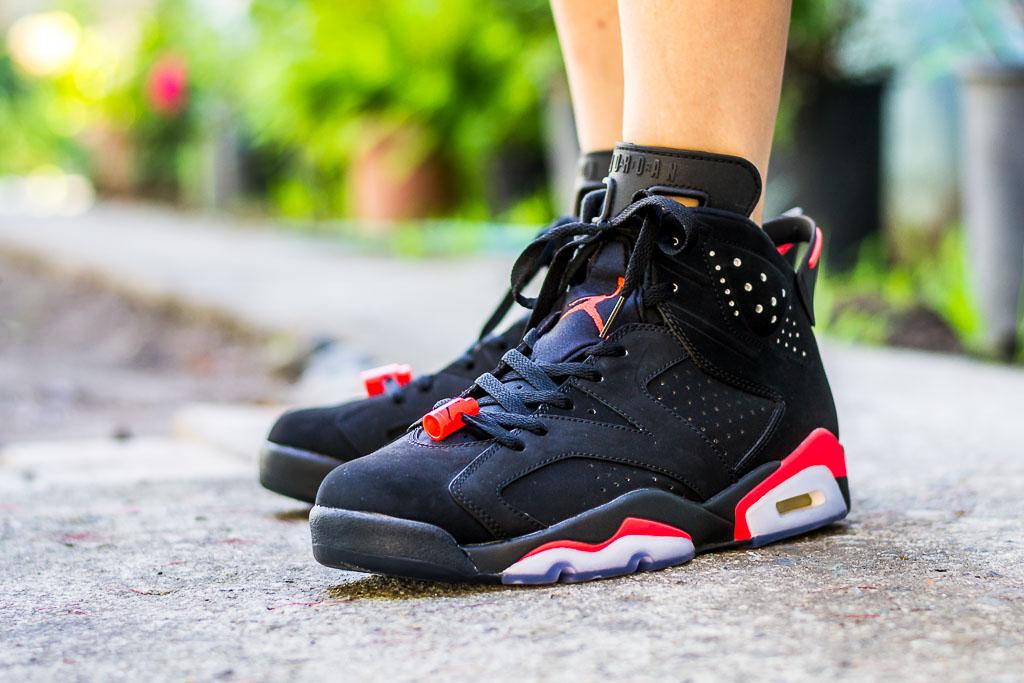 Air Jordan 6 Black Infrared On Feet
