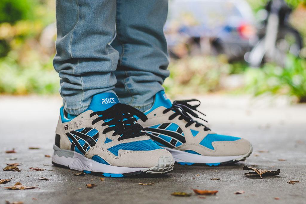 Asics Gel Lyte V Atomic Blue On Feet