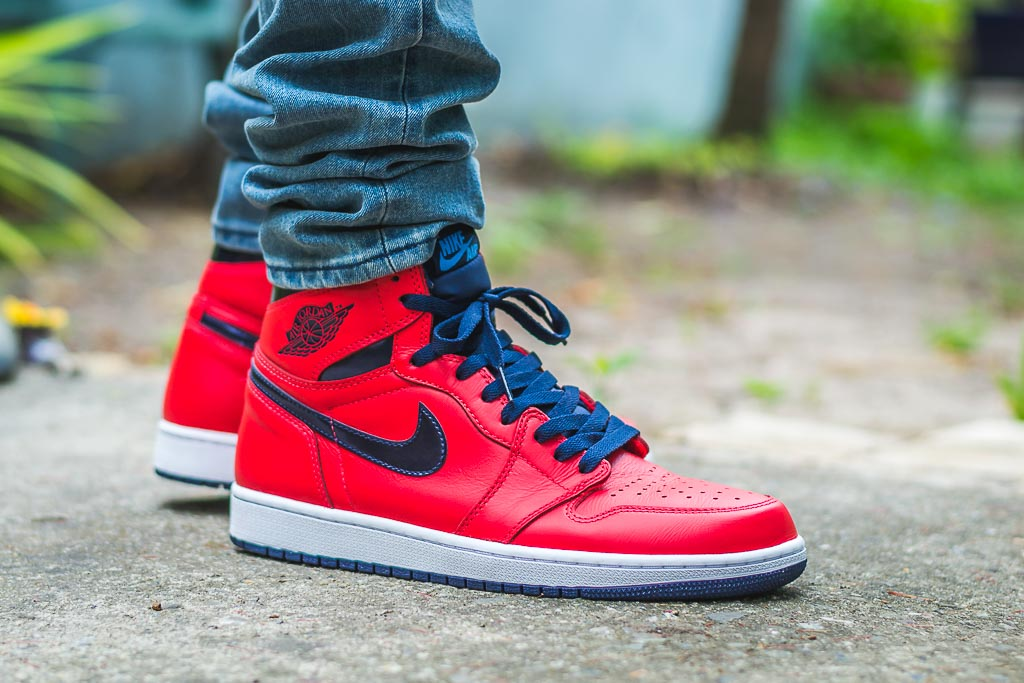 the best attitude 6fdb0 0c0ab Nike Air Jordan 1 Letterman On Feet Sneaker Review
