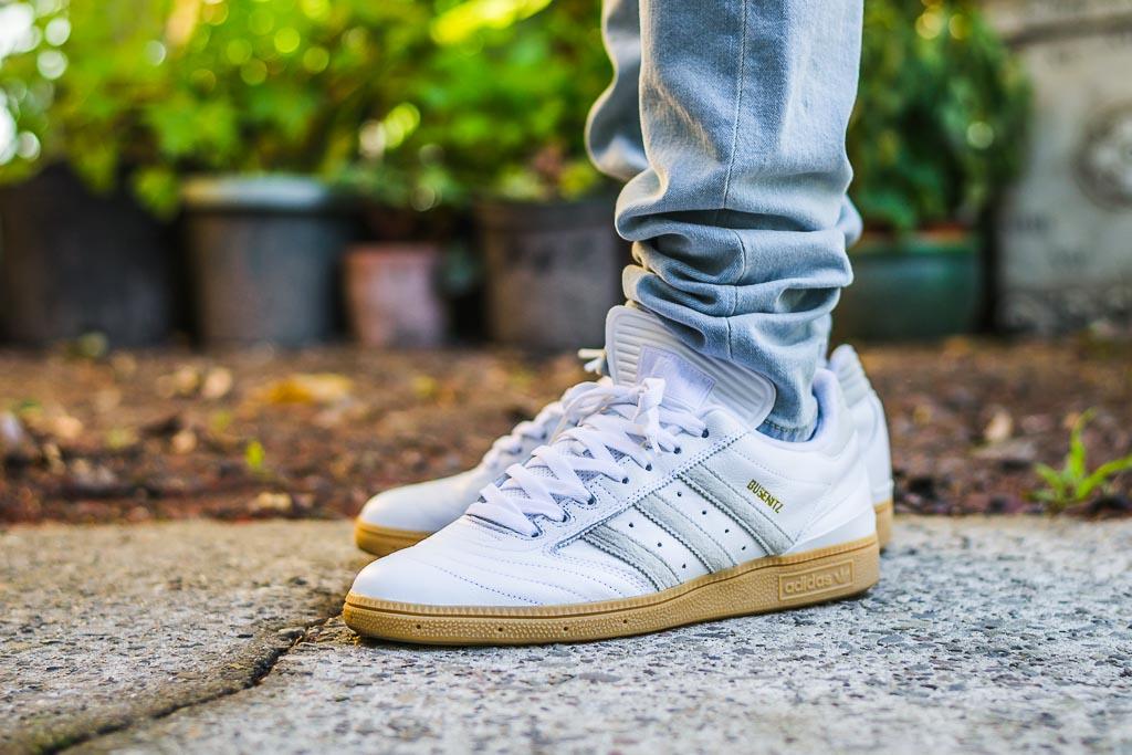 Adidas Busenitz White Gum on foot photo