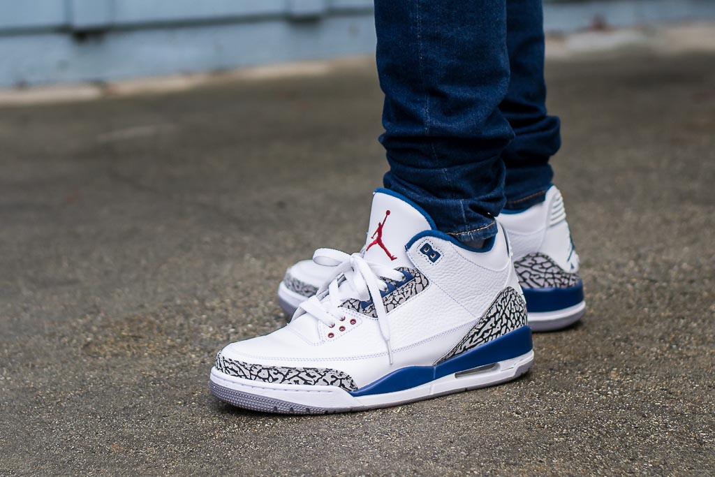 0bedd482b77e04 2011 Air Jordan 3 True Blue On Feet Sneaker Review