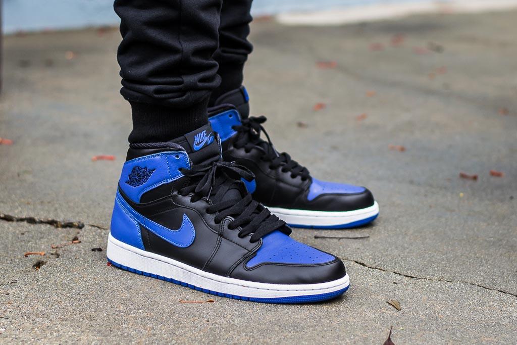 Air Jordan 1 High Og Royal On Feet Sneaker Review