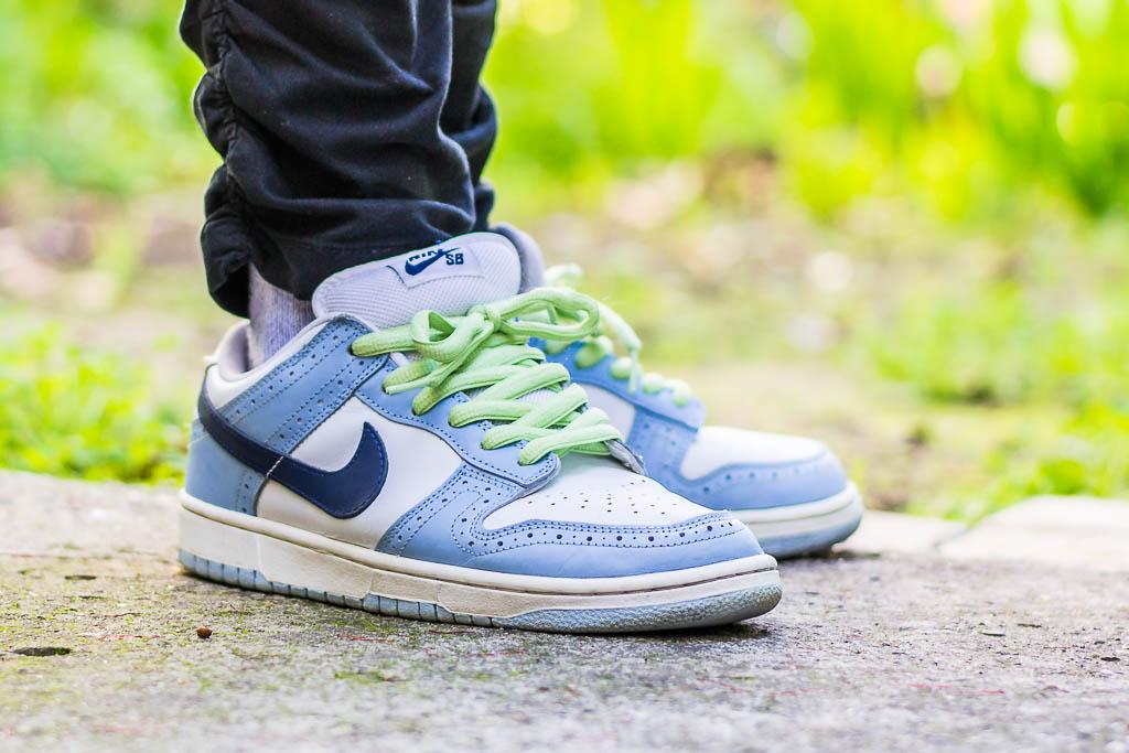 Nike Dunk SB Low Blue Golf On Feet