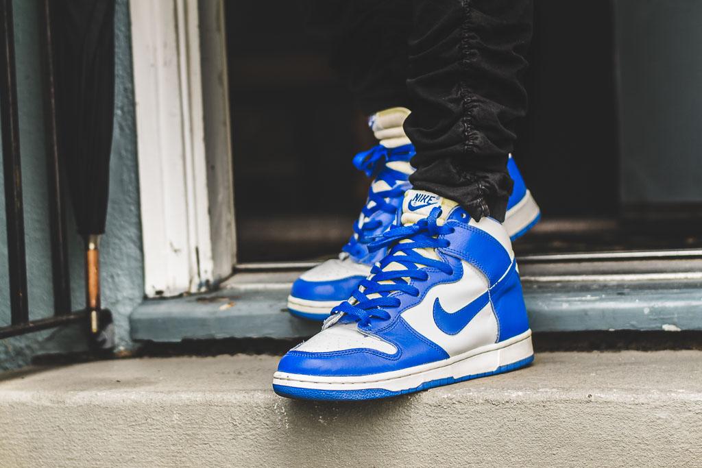 on sale e909b 90d63 1999 Nike Dunk High LE Kentucky alt