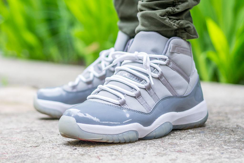 2010 Air Jordan XI Cool Grey - On Feet Sneaker Review e75c640df2
