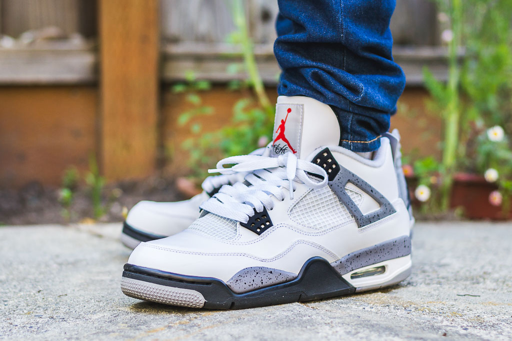 c7a22f342f2d 2012 Air Jordan 4 White Cement On Feet Sneaker Review
