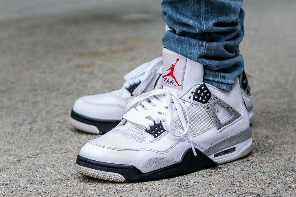 2012 Air Jordan 4 White Cement On Feet