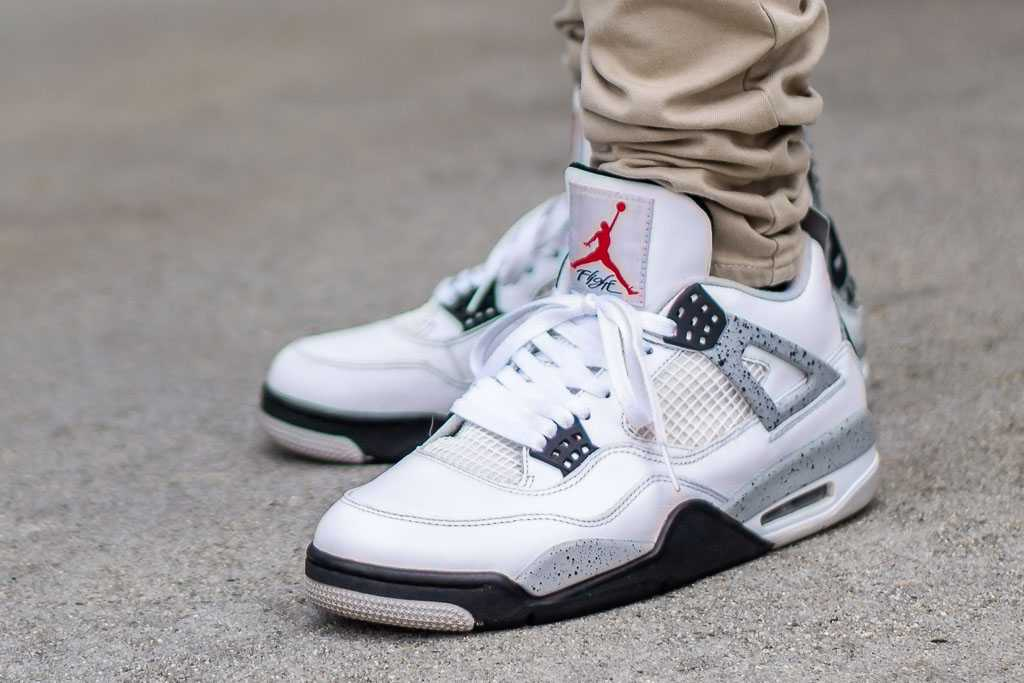 81dd3cf11b9 2012 Air Jordan 4 White Cement On Feet Sneaker Review