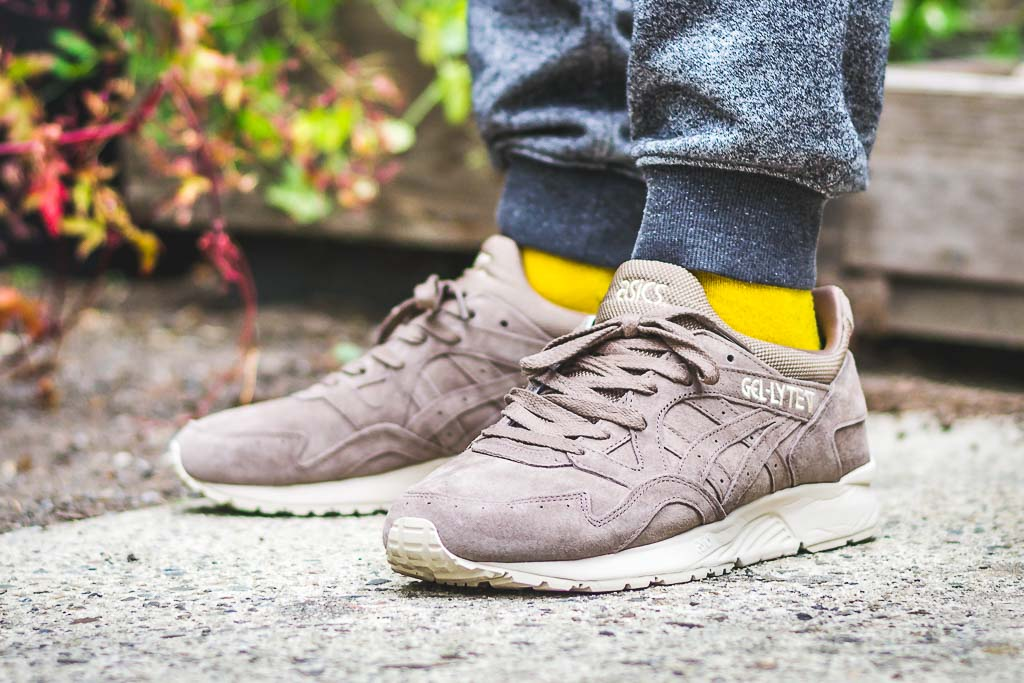 acb67fcafde0 ... get asics gel lyte v taupe grey on foot photo a603b 33ea6