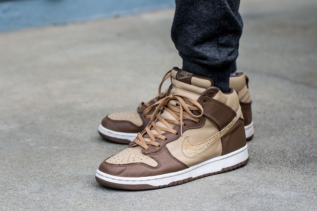 Nike Dunk High Plus B Stussy On Feet