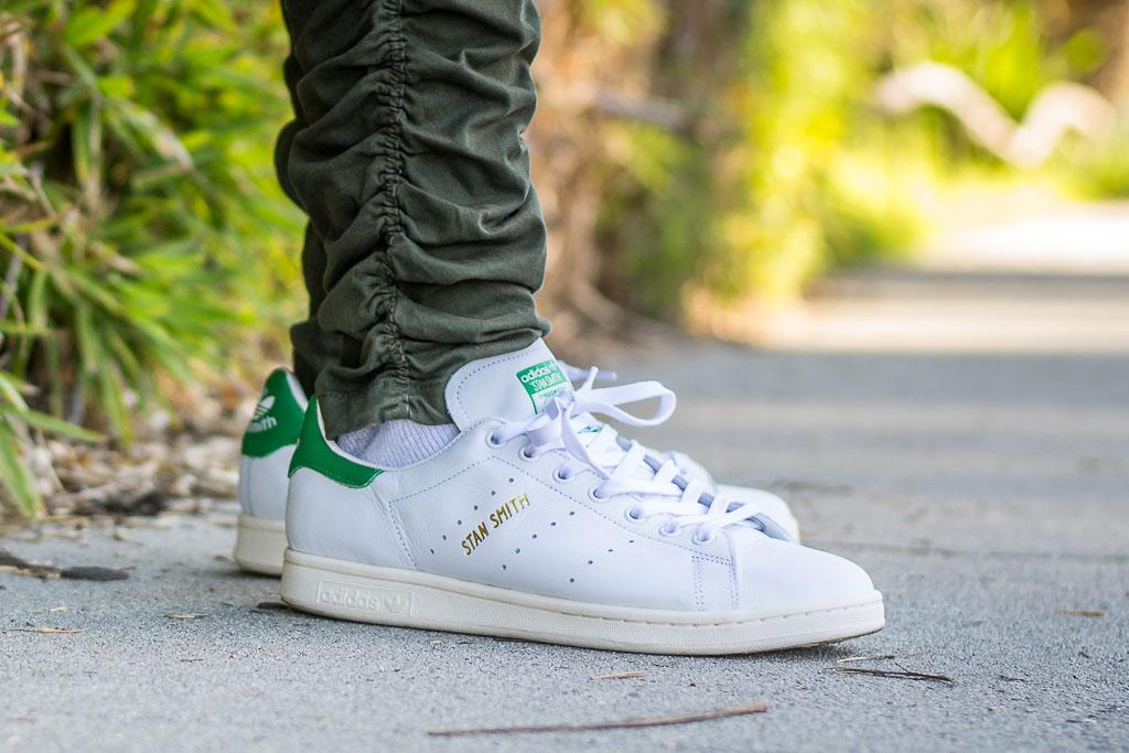 Adidas Stan Smith Vintage On Feet on foot photo