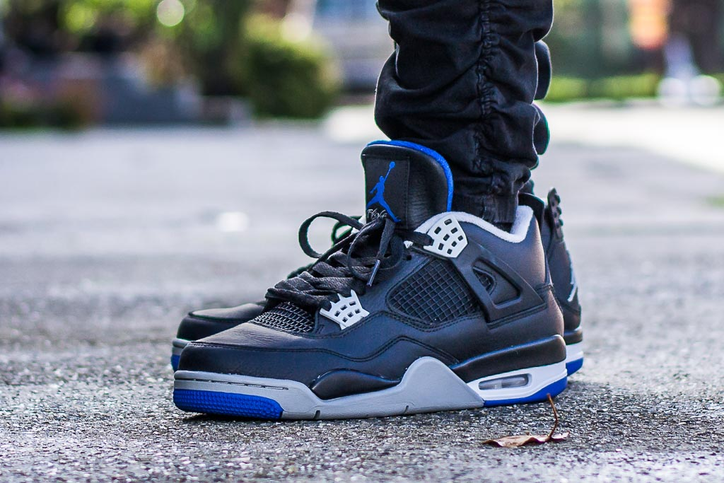 4de4db01e42b Air Jordan 4 Alternate Motorsport On Feet Sneaker Review