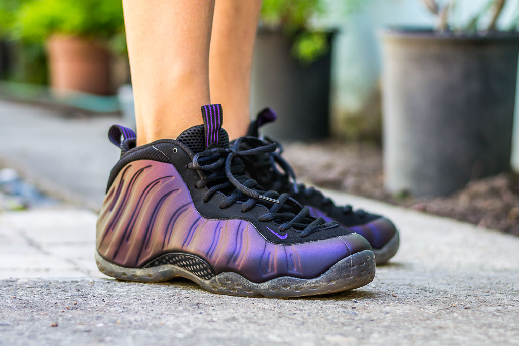 df698d27610 2010 Nike Air Foamposite One Eggplant On Feet Sneaker Review