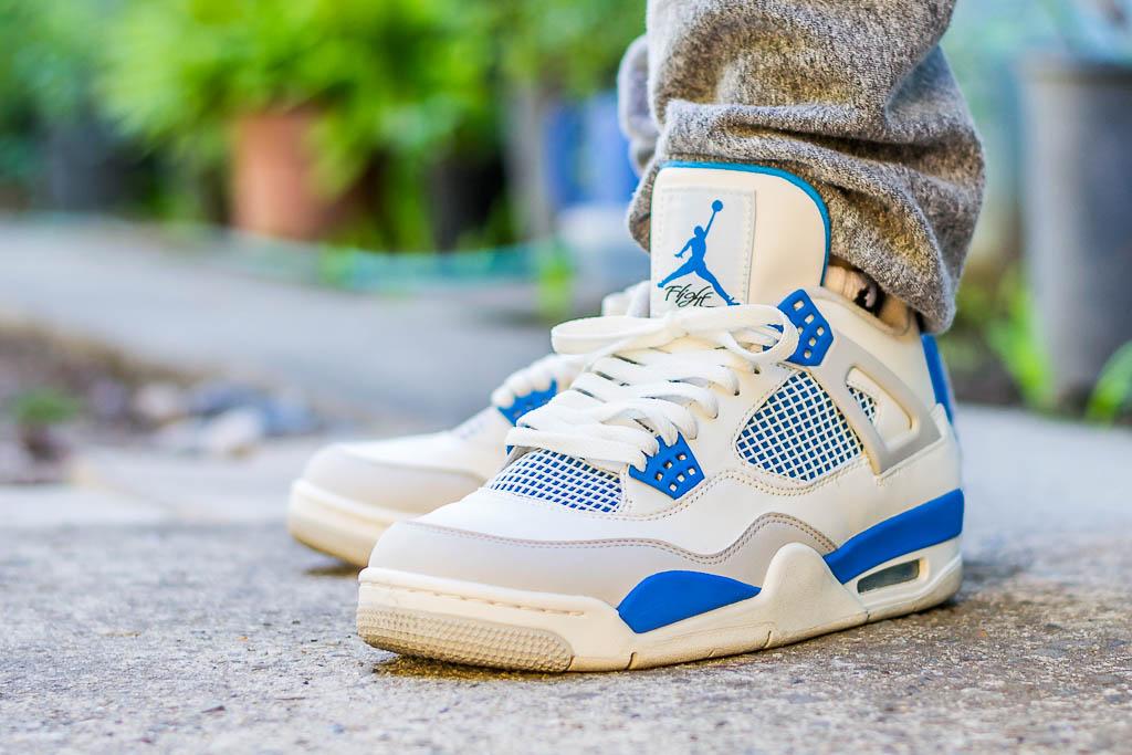 detailed look 17042 3a1a8 2012 Air Jordan 4 Military On Feet Sneaker Review
