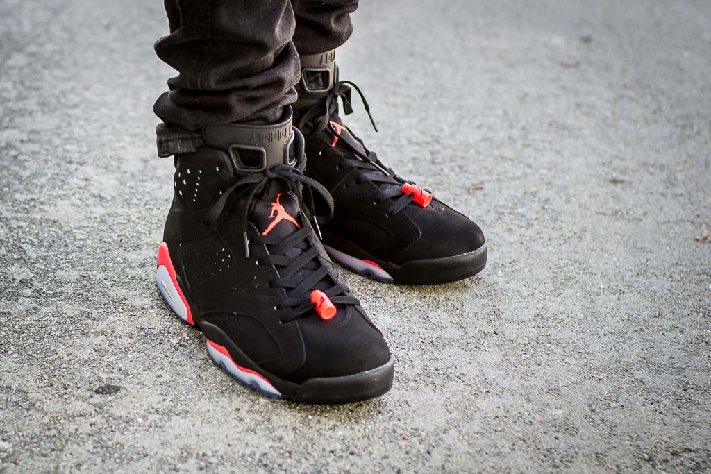 1a2d1f472b1569 Air Jordan 6 Black Infrared On Feet Sneaker Review