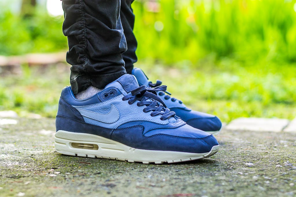 8f3cf72077 NikeLab Air Max 1 Pinnacle Ocean Fog On Feet Sneaker Review