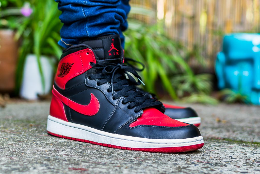 online store 3348a a3d4c DMP Air Jordan 1 Bred On Feet