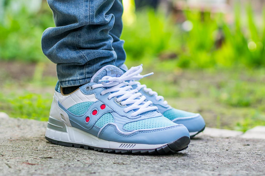 Saucony Shadow 5000 Extra Butter On Feet on foot photo