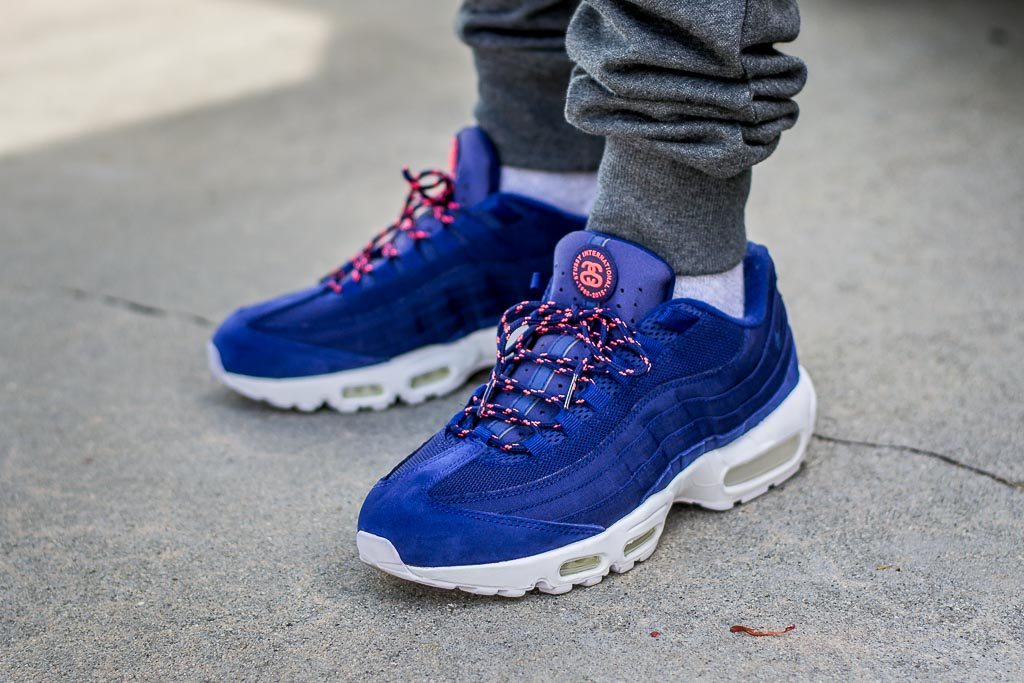 9d83eaebb8 Nike Air Max 95 Stussy Loyal Blue On Feet Sneaker Review