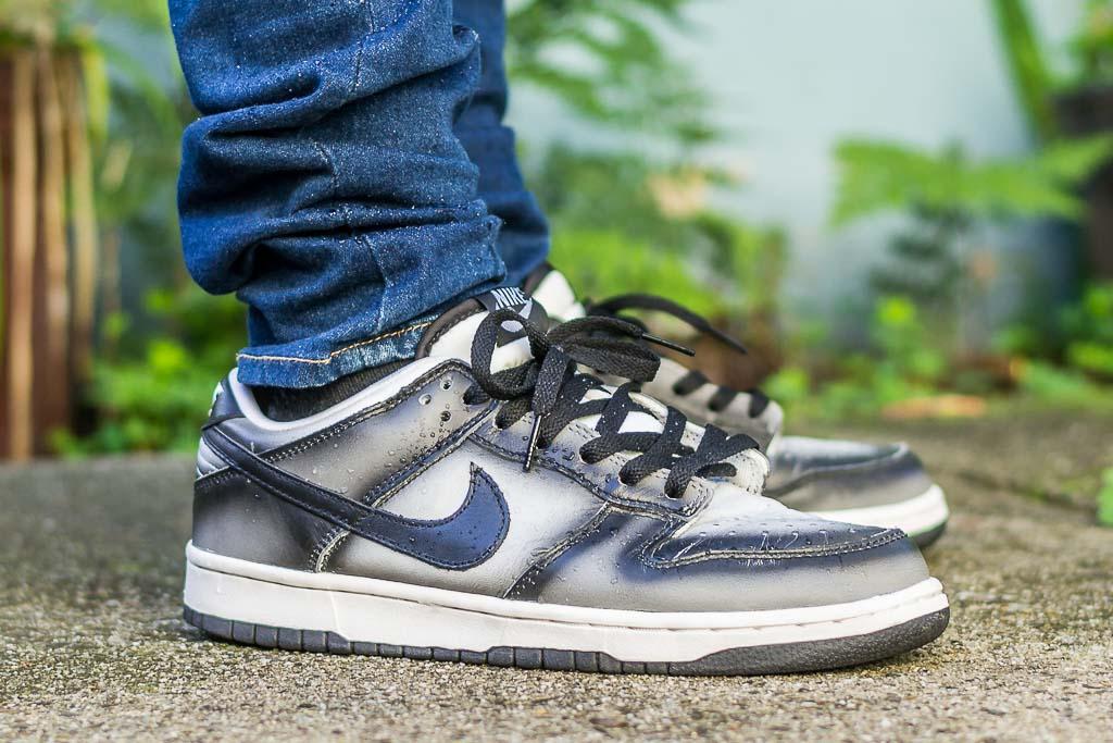2003 Nike Dunk Low Haze On Feet Sneaker