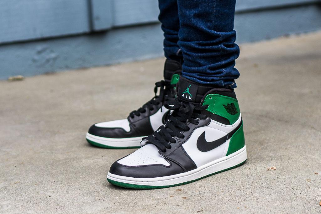 233b80e6d16 DMP Air Jordan 1 Celtics On Feet Video Review