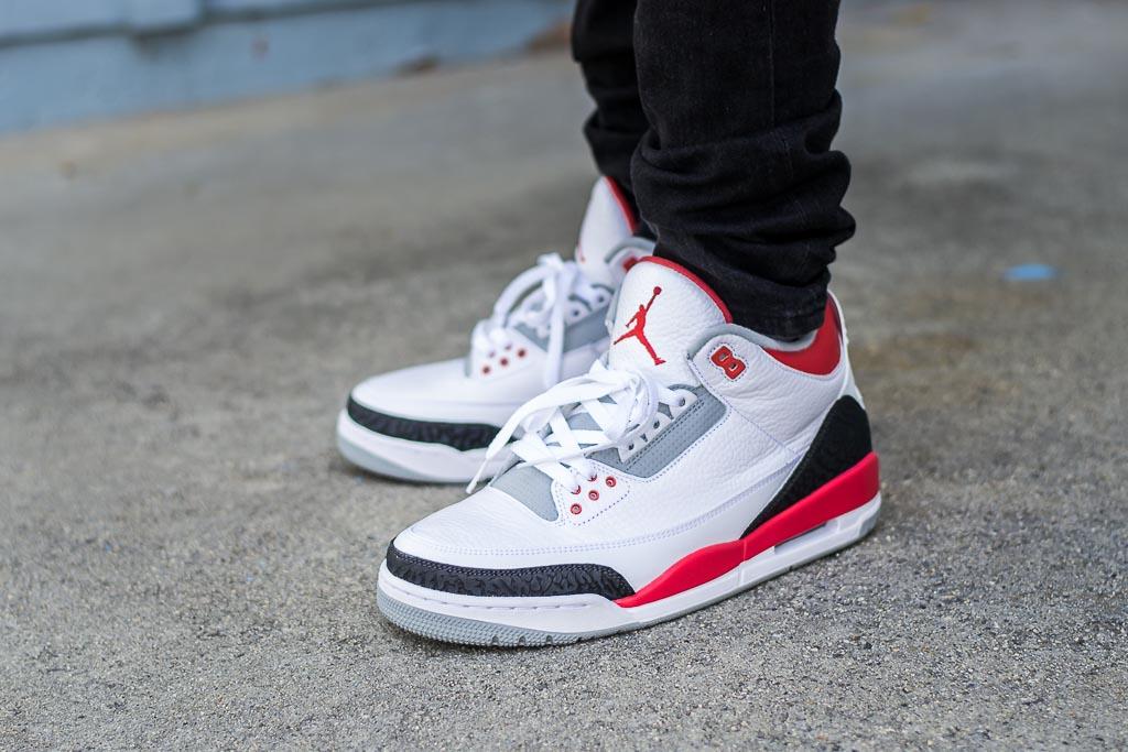 7a2c778d14573c 2013 Air Jordan 3 Fire Red On Feet Sneaker Review