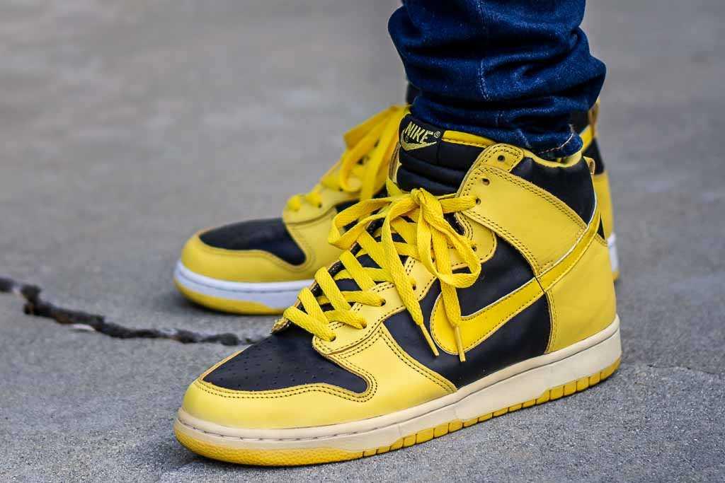 1999 Nike Dunk High Goldenrod AKA Iowa