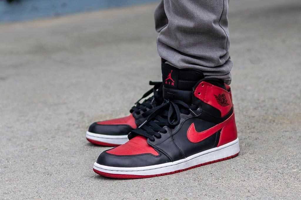 DMP Air Jordan 1 Bred On Feet