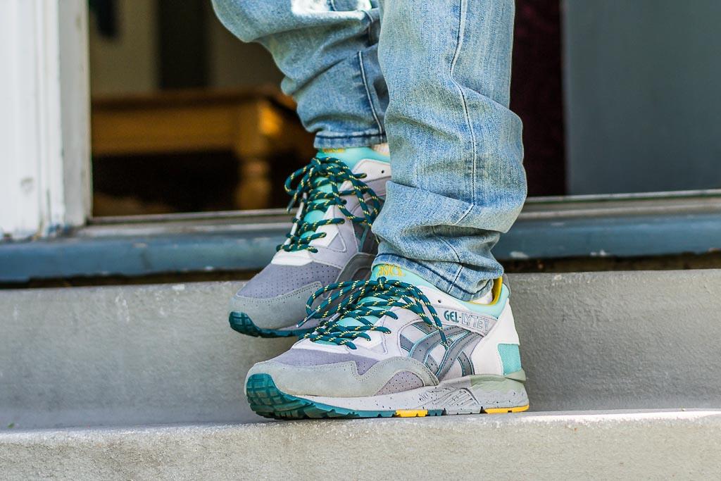 Asics Gel Lyte V Aluminum On Feet